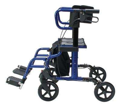 Hybrid LX Rollator Transport Chair Combo LX1000B, Blue