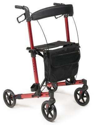 Walkabout Allura LX Rollator, by Lumex LX5000A, Apple Red