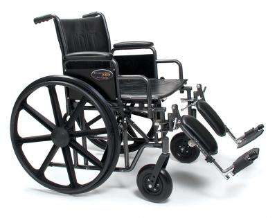 "Traveler HD 20""x18"" Wheelchair,  3G010330  desk length arms and legrests"