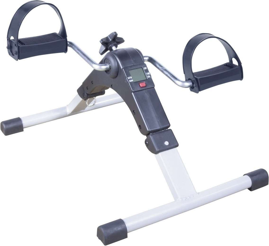Drive RTL10273 Folding Exercise Peddler with Digital Display, Silver - Advanced Healthmart