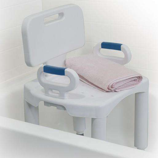 Drive RTL12505 Premium Series Shower Chair with Back and Arms - Advanced Healthmart