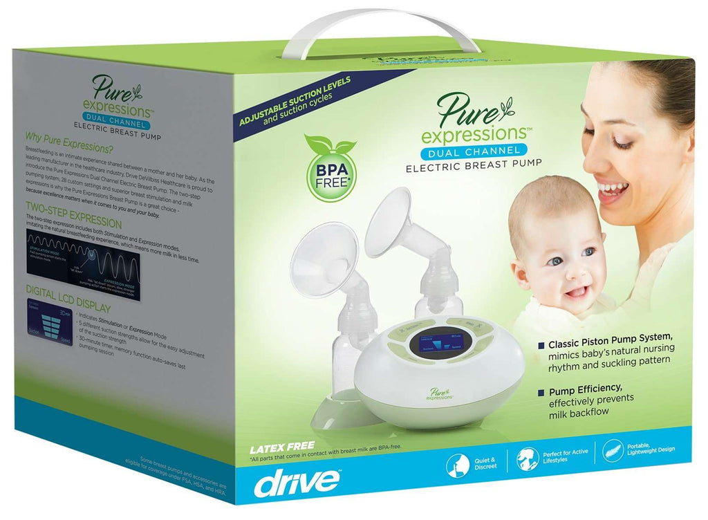 Drive Pure Expressions Economy Dual Channel Electric  Breast Pump, rtlbp0200 - Advanced Healthmart