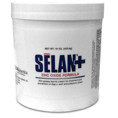 Selan+ Zinc oxide Barrier Cream, 16oz jar - Advanced Healthmart