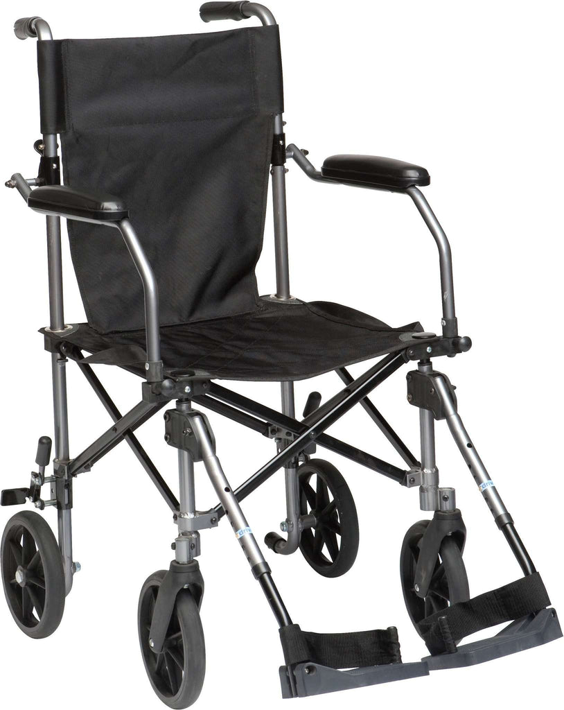 Drive Medical TC005GY Travelite Transport Wheelchair Chair in a Bag - Advanced Healthmart