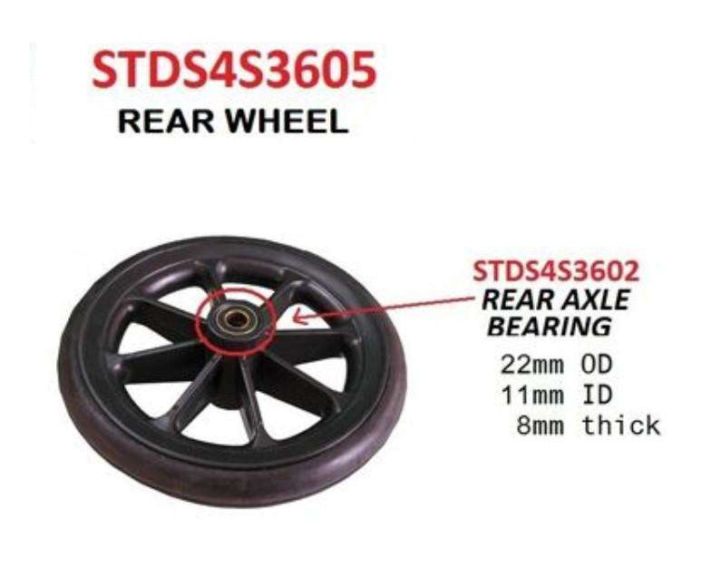Rear Wheel Assembly for Drive TR37E-SV and TR39E-SV