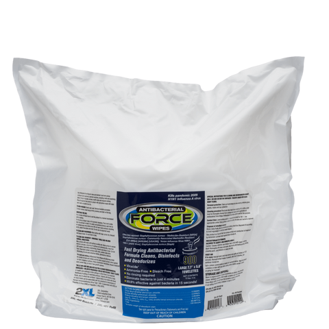 "Force Disinfectant Wipes by 2XL  8""x6"" 900 wipe/refill bag, 2XL401"