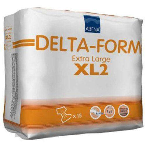 "Abena RB308875 Delta-Form Adult Brief XL2 44"" - 68"" - Advanced Healthmart"