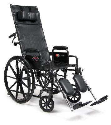 "Advantage Reclining 20""x17"" Wheelchair,  3K010330 Desk length arms/Leg Rests - Advanced Healthmart"