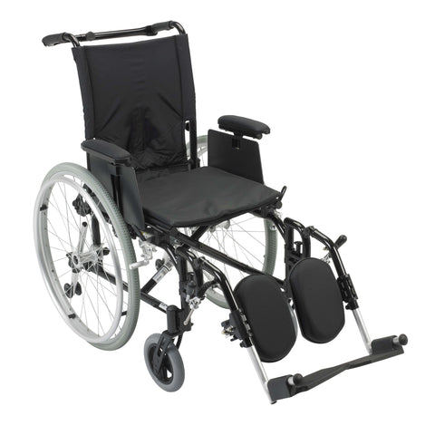 "Drive ak516ada-aelr Cougar Ultra Lightweight Rehab Wheelchair, Elevating Leg Rests, 16"" Seat - Advanced Healthmart"