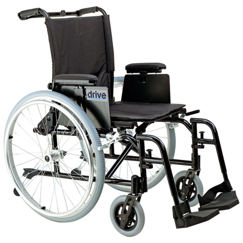 "Drive ak516ada-asf Cougar Ultra Lightweight Rehab Wheelchair, Swing away Footrests, 16"" Seat - Advanced Healthmart"