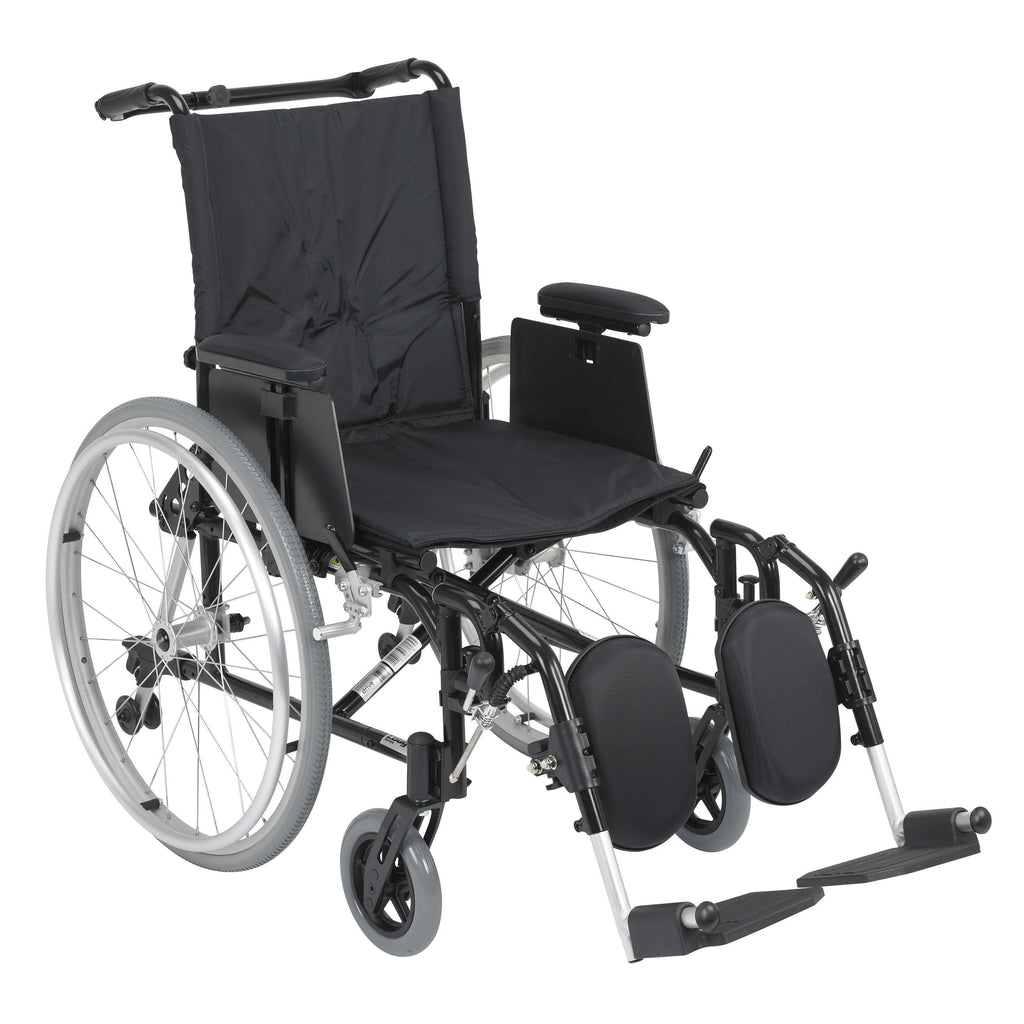 "Drive ak518ada-aelr Cougar Ultra Lightweight Rehab Wheelchair, Elevating Leg Rests, 18"" Seat - Advanced Healthmart"