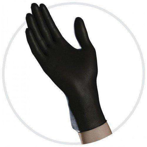 Ambitex Medical Exam Grade Black Nitrile Gloves, all sizes - Advanced Healthmart
