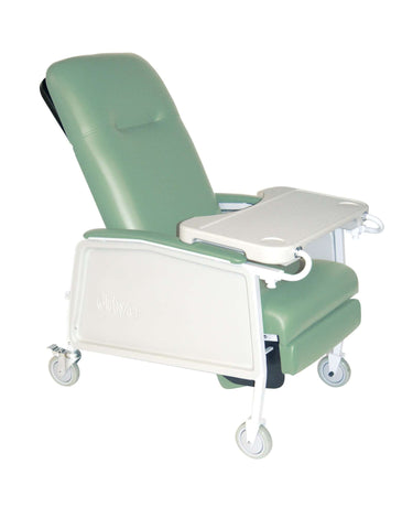 Drive Medical d574ew-j 3 Position Heavy Duty Bariatric Geri Chair Recliner, Jade - Advanced Healthmart