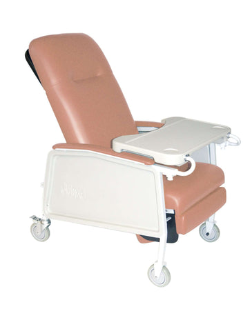 Drive Medical d574ew-r 3 Position Heavy Duty Bariatric Geri Chair Recliner, Rosewood - Advanced Healthmart
