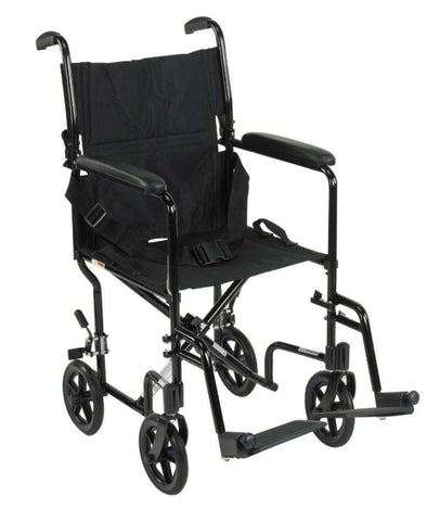 "Drive ATC series 19"" Aluminum Transport chair - Advanced Healthmart"
