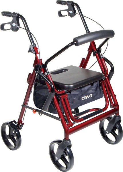 Drive 795 Series Duet Rollator Walker Transport Chair
