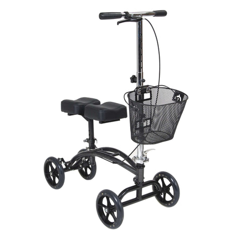 Drive Medical 796 Dual Pad Steerable Knee Walker with Basket - Advanced Healthmart