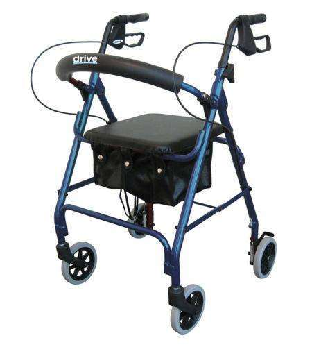 "Drive Medical RTL10261 series Rollator with Padded Seat and 6"" casters - Advanced Healthmart"