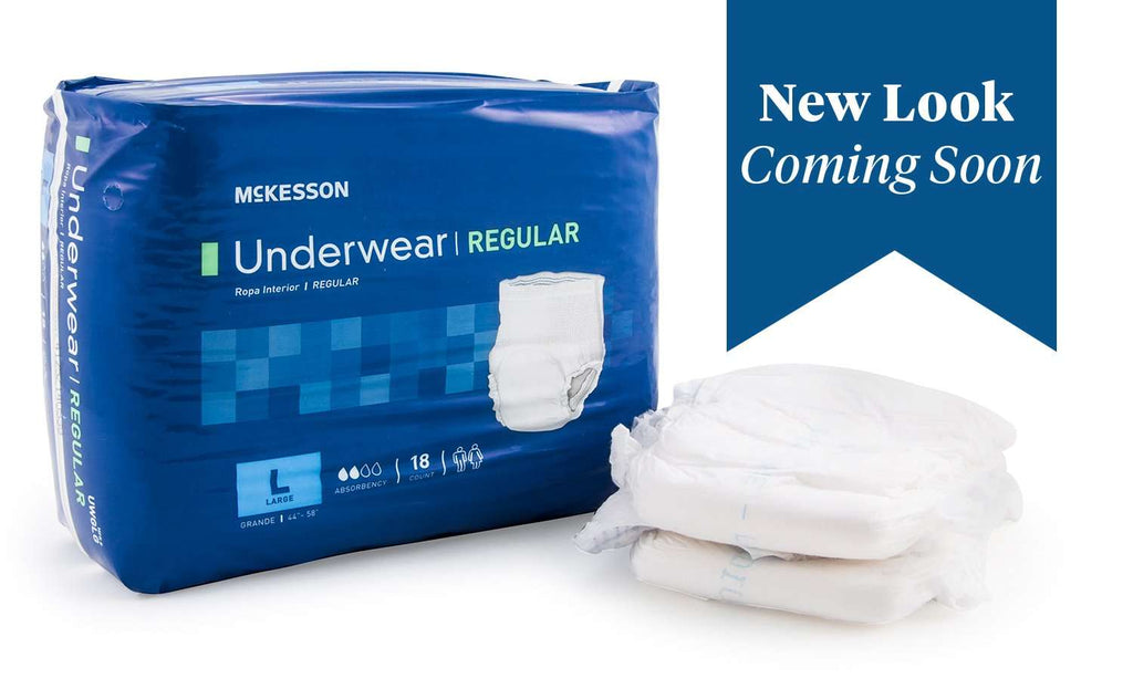 McKesson UWGLG Regular Absorbent Underwear, LG 18/BG