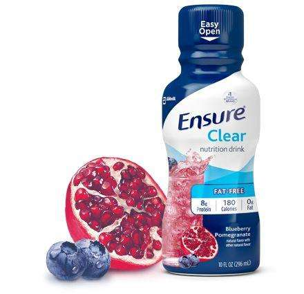 Ensure Clear Blueberry Pomegranate 10 Oz. btl 12/Cs 56500 - Advanced Healthmart