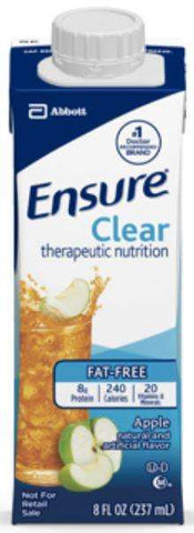 Ensure Clear Apple 24/cs 8oz. recloseable 64903 - Advanced Healthmart