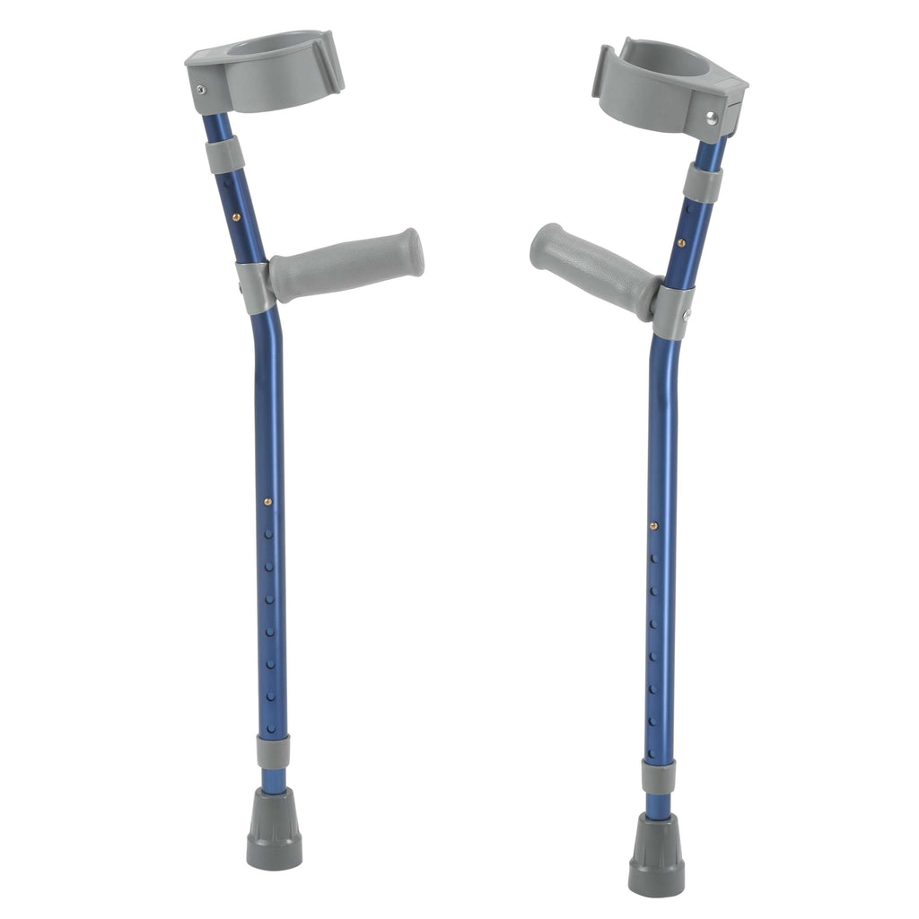 Pediatric Forearm Crutches, Small, Knight Blue, Pair - Advanced Healthmart