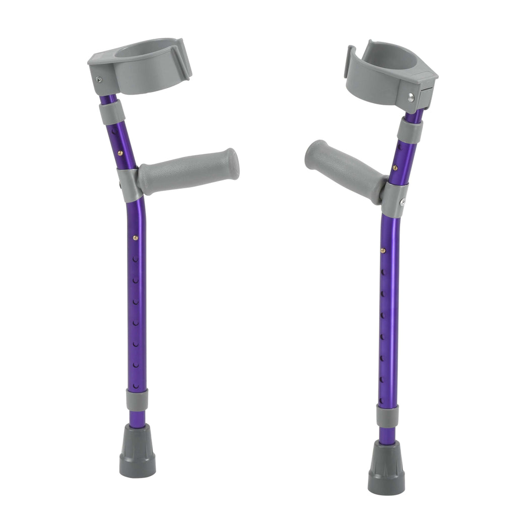 Pediatric Forearm Crutches, Large, Wizard Purple, Pair - Advanced Healthmart