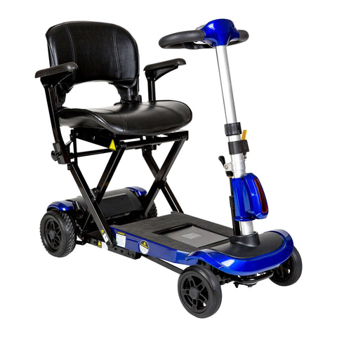 Drive flex-auto ZooMe Auto-Flex Folding Travel Scooter, Blue - Advanced Healthmart