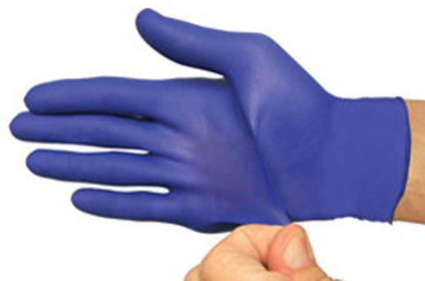 Flexal Blue Nitrile Gloves Powder Free/Latex free cs/10bx - Advanced Healthmart