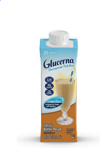 Screw Top Glucerna Therapeutic Shake 8oz cs/24 Butter Pecan 64927