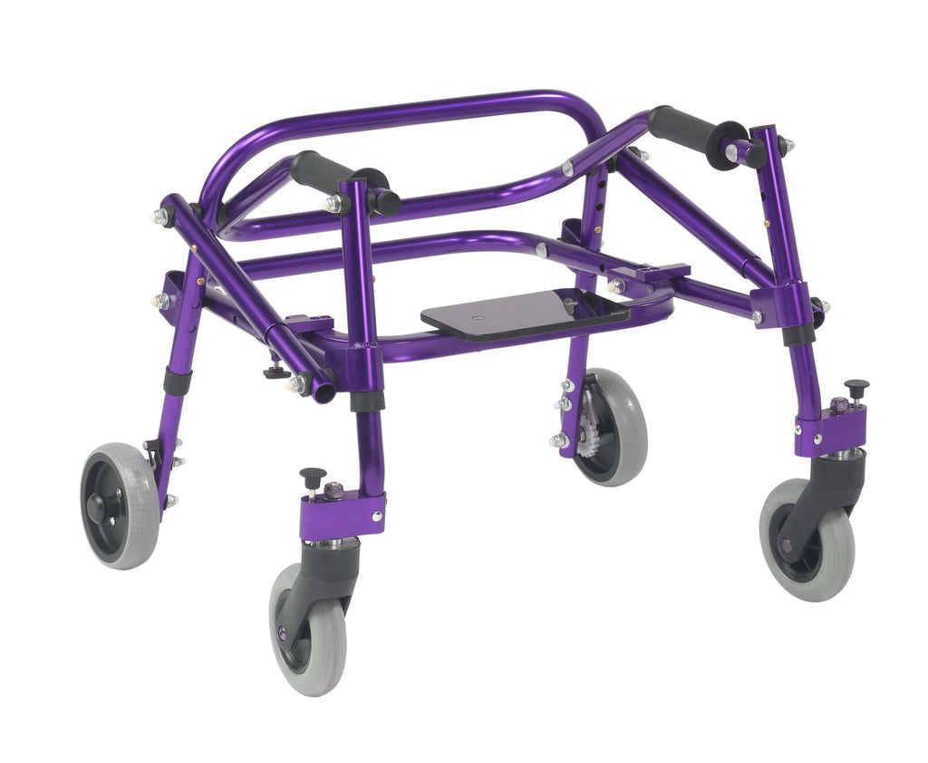Nimbo 2G Lightweight Posterior Walker with Seat, Extra Small, Wizard Purple - Advanced Healthmart