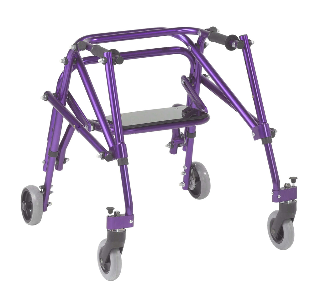 Nimbo 2G Lightweight Posterior Walker with Seat, Small, Wizard Purple - Advanced Healthmart