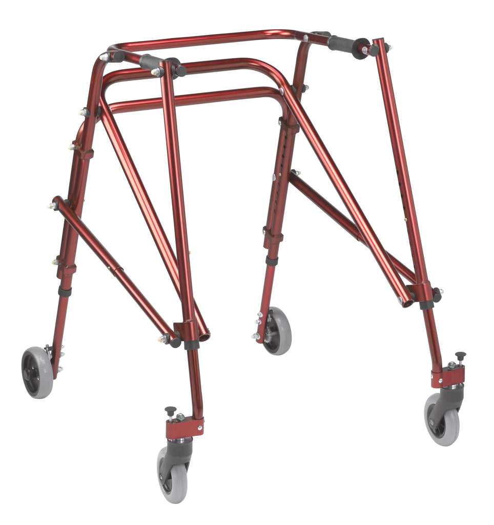 Nimbo 2G Lightweight Posterior Walker, Large, Castle Red - Advanced Healthmart