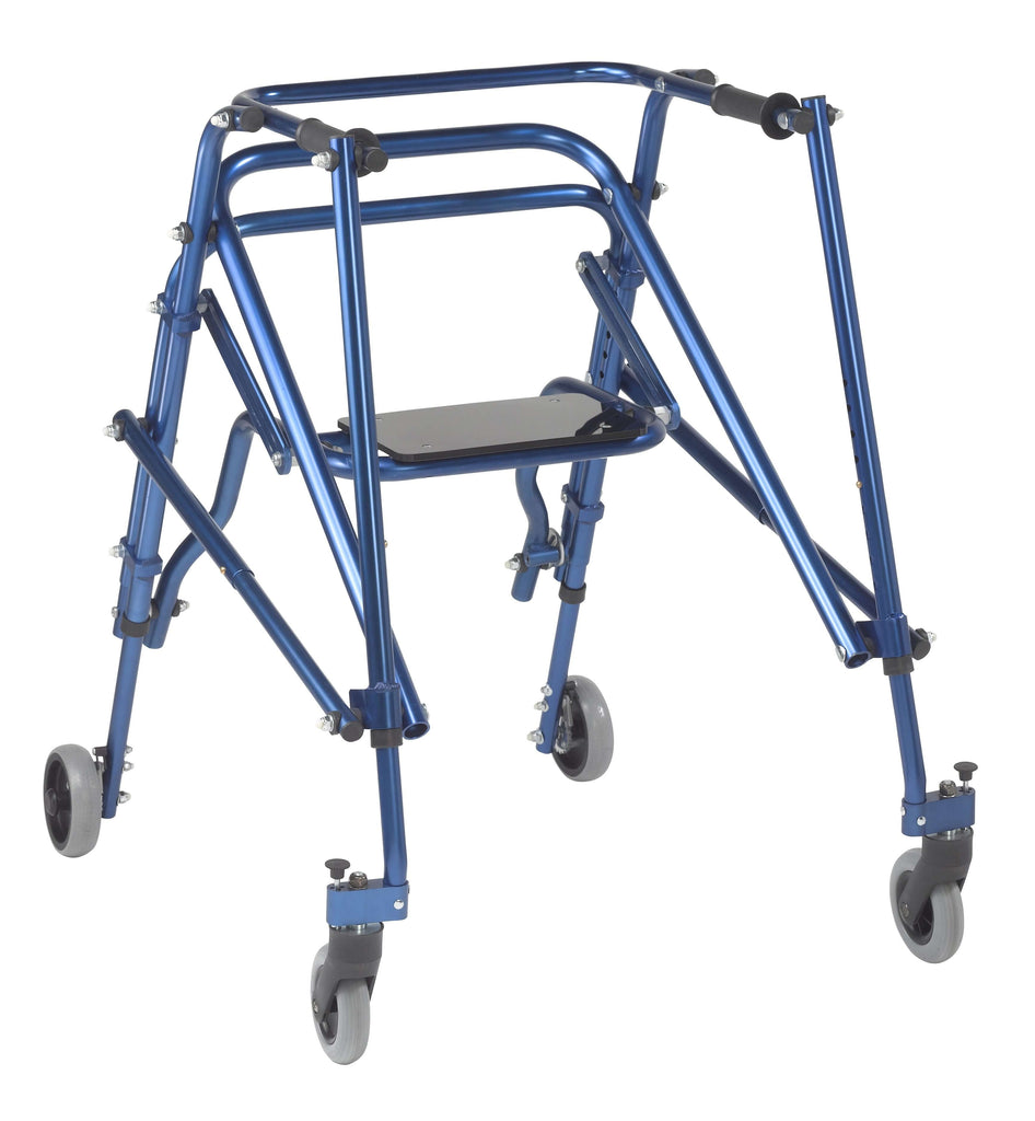 Nimbo 2G Lightweight Posterior Walker with Seat, Large, Knight Blue - Advanced Healthmart