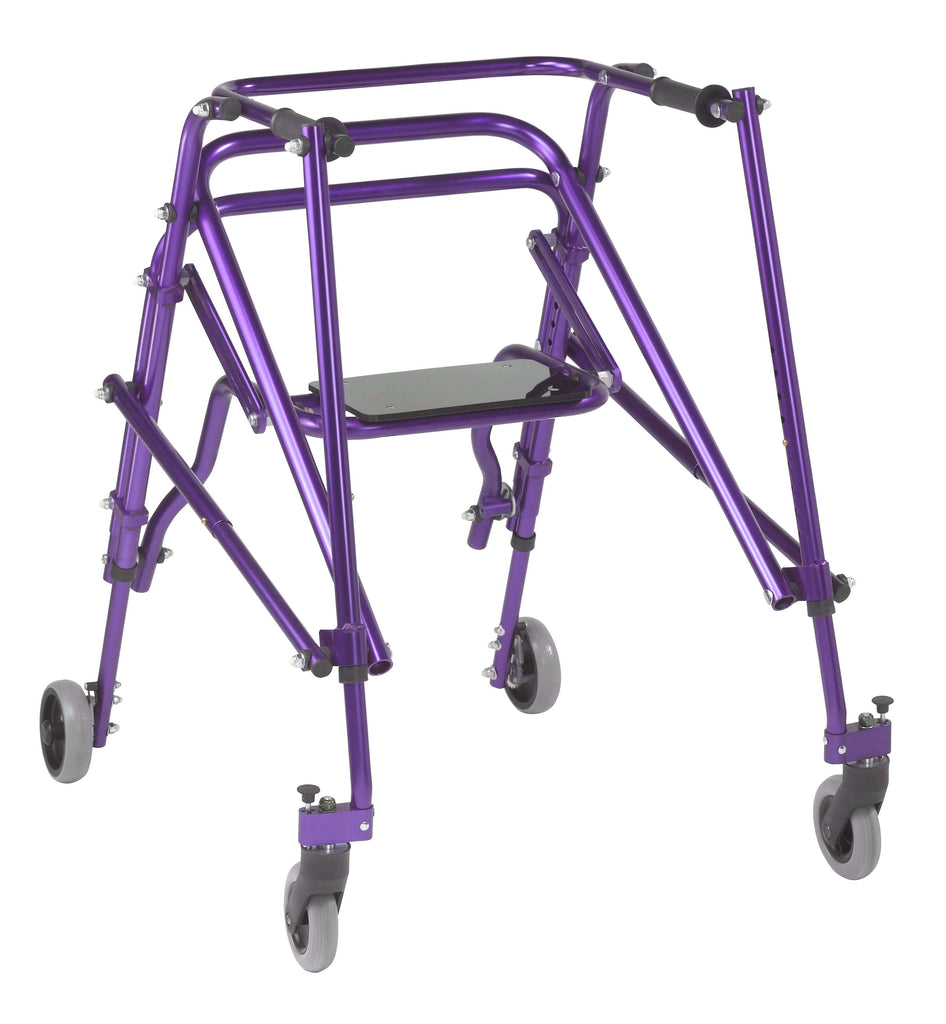 Nimbo 2G Lightweight Posterior Walker with Seat, Large, Wizard Purple - Advanced Healthmart