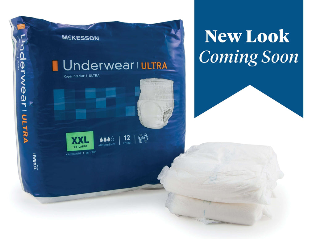 McKesson UWBXXL Ultra Absorbent Underwear 68-80 2XLG 48/CS