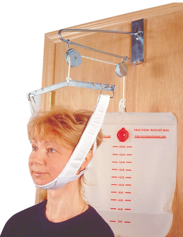 Drive 13004 Over The Door Cervical Traction set Home Head Brace - Advanced Healthmart