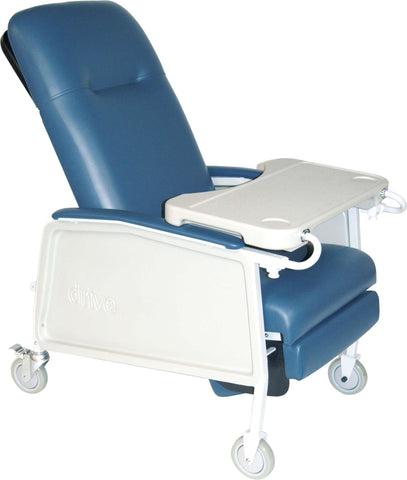 Drive Medical d574ew-br 3 Position Heavy Duty Bariatric Geri Chair Recliner, Blue Ridge - Advanced Healthmart