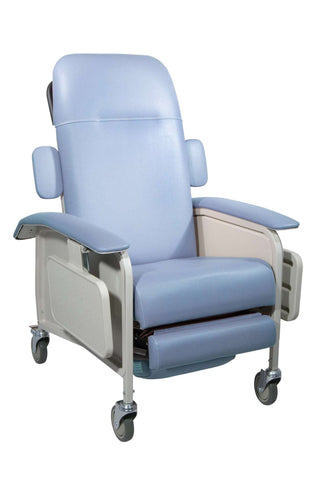 Drive Medical d577-br Clinical Care Geri Chair Recliner, Blue Ridge - Advanced Healthmart