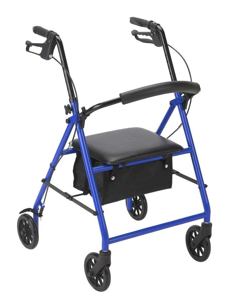 "Drive Medical r800bl Rollator with 6"" Wheels, Blue - Advanced Healthmart"