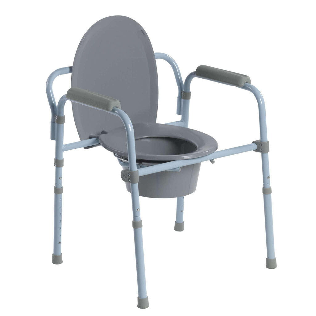 Drive Medical RTL11158KDR Steel Folding Frame Commode - Advanced Healthmart