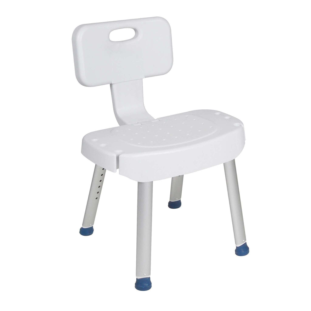 Drive Medical rtl12606 Bathroom Safety Shower Chair with Folding Back - Advanced Healthmart