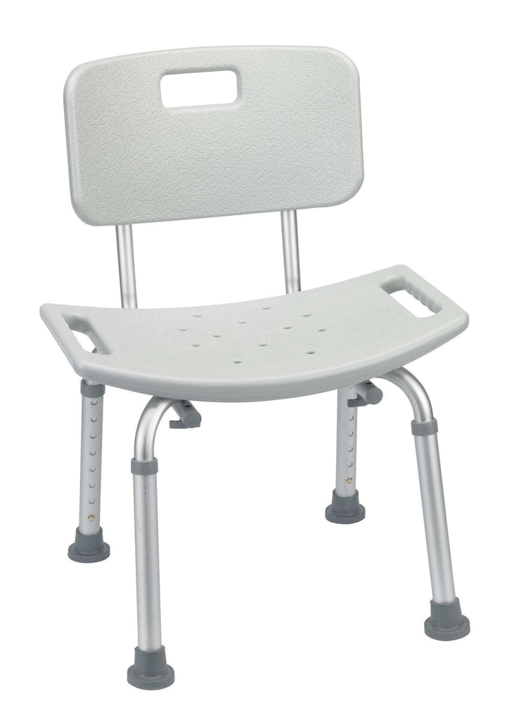 Drive rtl12202kdr Shower Tub Bench Chair with Back, Gray - Advanced Healthmart