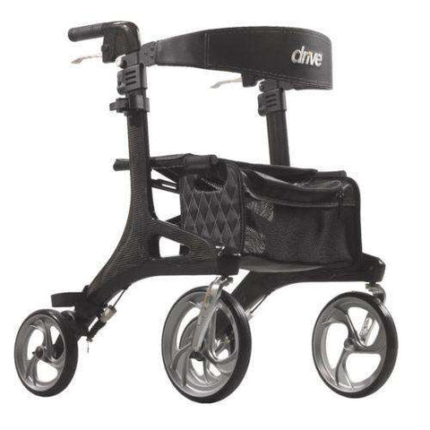 Drive Medical RTL10266CF Nitro Elite Ultralight Carbon Fiber Rollator - Advanced Healthmart