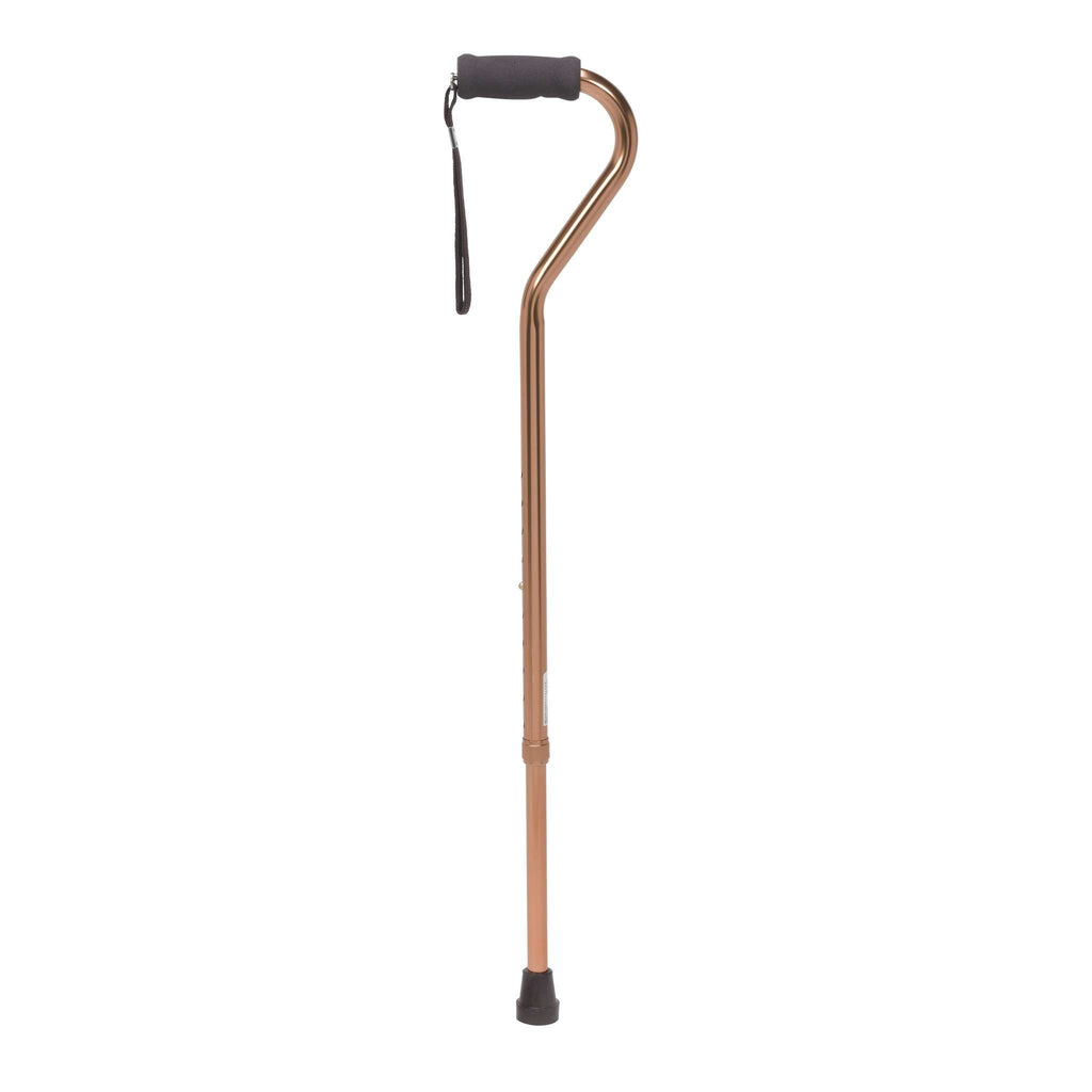 Drive rtl10307 Foam Grip Offset Handle Walking Cane, Bronze - Advanced Healthmart