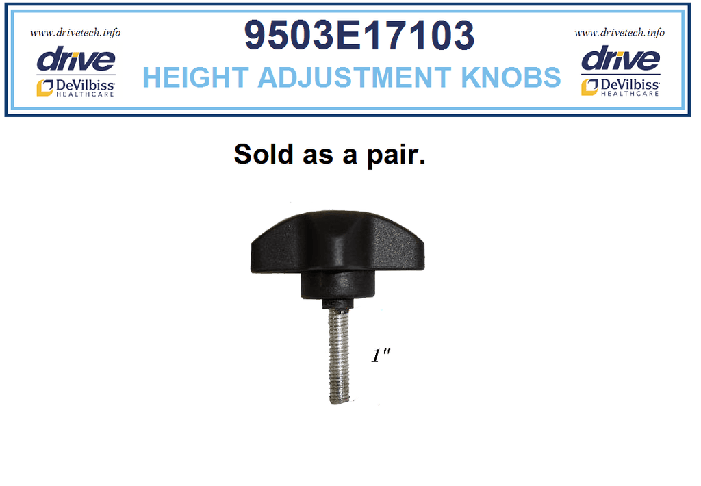 Height Adjustment knobs for Drive 10289, 9503E17103-C