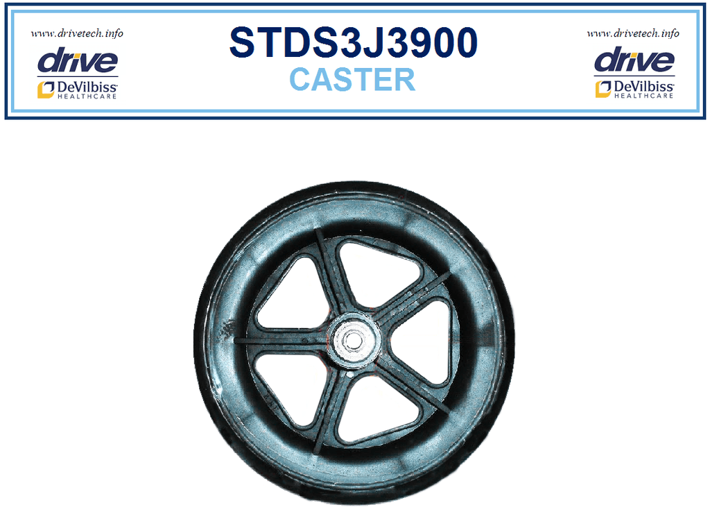 Drive STDS3J3900 Front Caster wheel for ATC17 & ATC19 Transport Chairs
