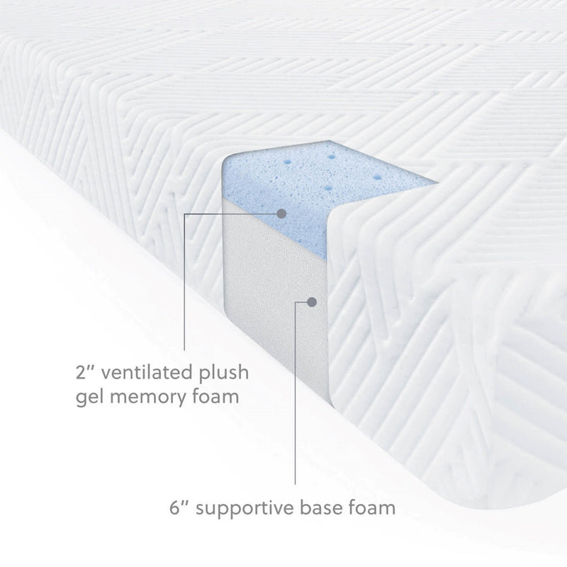 "Premium 8"" Gel Foam Mattress"