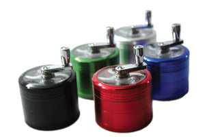 "Grinder - 4 Parts - 2.25"" (55mm) - With Handle"