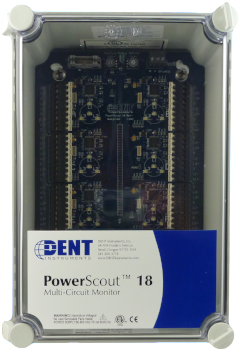 PowerScout 18 Board Layout and Enclosure Dimensions